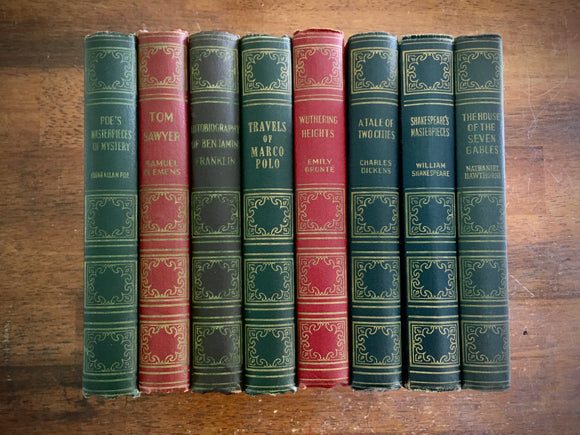 lot of 8 vintage hardcover art type edition classics by books, inc.