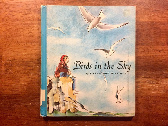 Birds in the Sky by Lucy and John Hawkinson, Vintage 1965, Hardcover Book, Illustrated