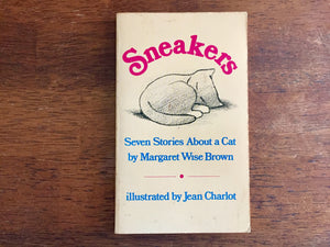 Sneakers - Seven Stories About A Cat by Margaret Wise Brown, Rare, Vintage 1979 PB, Illustrated