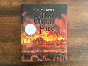 The Great Fire by Jim Murphy, Signed, Vintage 1995, HC DJ