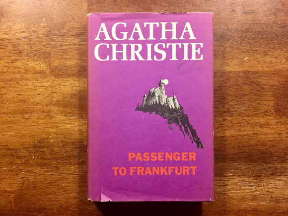 Passenger to Frankfurt by Agatha Christie, Hardcover Book with Dust Jacket, Vintage 1970