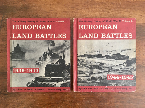 European Land Battles: The Military History of World War II, Vintage 1962, Franklin Watts