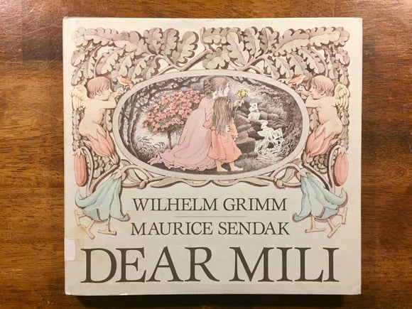 Dear Mili by Wilhelm Grimm, Illustrated by Maurice Sendak, Vintage 1988, 1st Edition, Hardcover Book with Dust Jacket