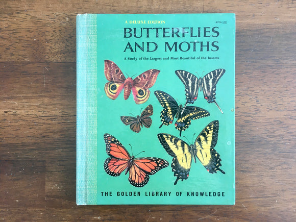 Butterflies and Moths, Golden Library of Knowledge, Deluxe Edition, Vintage 1958