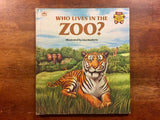 Who Lives in the Zoo?, Golden Press, Vintage 1981, Illustrated by Lisa Bonforte, Hardcover Book