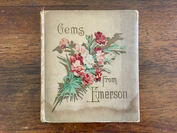 Gems from Emerson, Poetry, Antique 1904, Illustrated, HC, Ralph Waldo