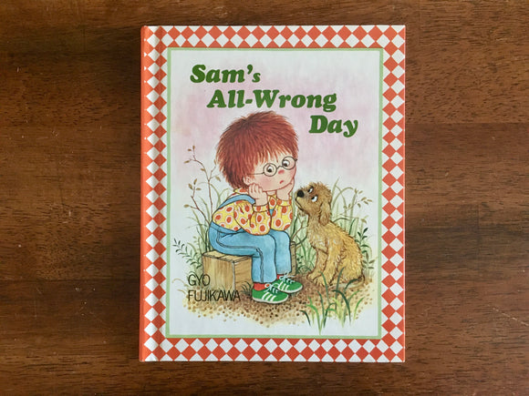 Sam's All-Wrong Day by Gyo Fujikawa, Vintage 1982, HC, Checkerboard