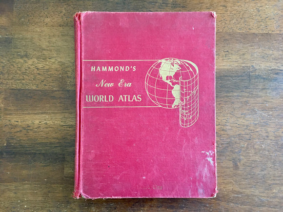 Hammond's New Era World Atlas, Geography, Maps, Cartography, Large HC, 1954