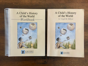 A Child's History of the World by Virgil M. Hillyer, Book and Workbook