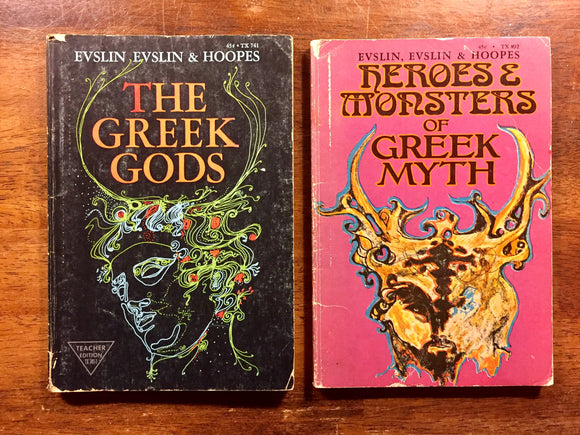 The Greek Gods + Heroes & Monsters of Greek Myth by Evslin, Illustrated