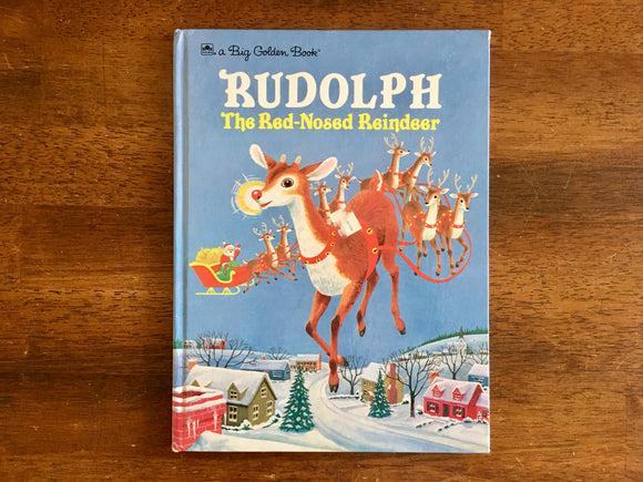 Rudolph, the Red-Nosed Reindeer, A Big Golden Book, Vintage 1993, HC