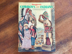 Tenggren's Cowboys and Indians, A Giant Golden Book, Vintage 1968, Illustrated