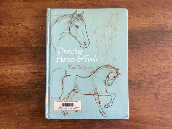 Drawing Horses & Foals by Don Bolognese, Vintage 1977, HC, Learning to Draw