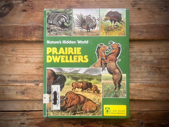 Prairie Dwellers, Nature's Hidden World, Illustrated Animals, HC, Science, 1984