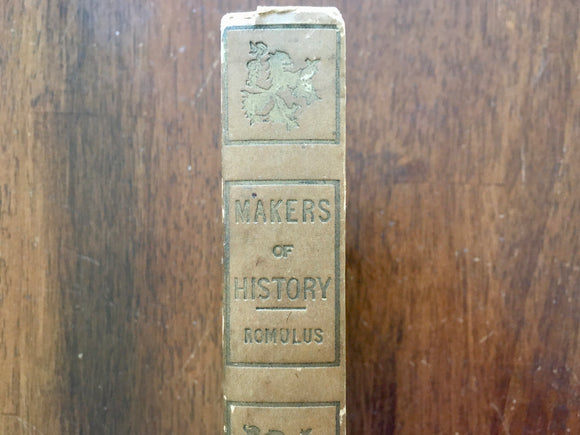 Romulus by Jacob Abbott, Makers of History, Antique, Hardcover Book, Werner
