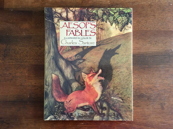 Aesop's Fables, Illustrated and Signed by Charles Santore, Vintage 1988, HC DJ