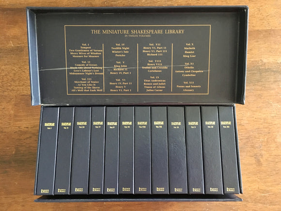The Miniature Shakespeare Library in Twelve Volumes, ©2002, HC Book Set