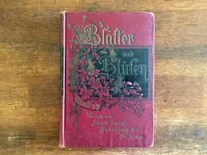 Blätter und Blüten Band 17, German Hardcover Book, Illustrated, Vintage