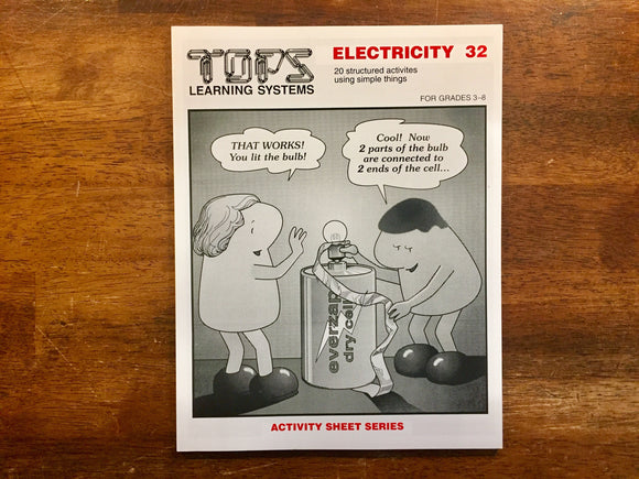 TOPS Learning Systems, Electricity 32, Activity Sheet Series, by Ron Marson