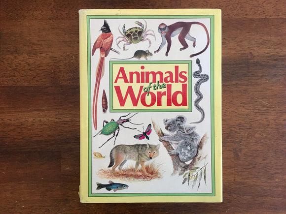 Animals of the World, Vintage 1985, Dr. Jiri Felix, Hardcover Book with Dust Jacket