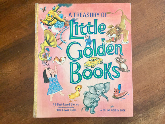 A Treasury of Little Golden Books. Hardcover Book. Vintage 1972. Illustrated.