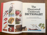 The Illustrated Children's Dictionary, Vintage 1984, Large HC, Lovely Illustrations