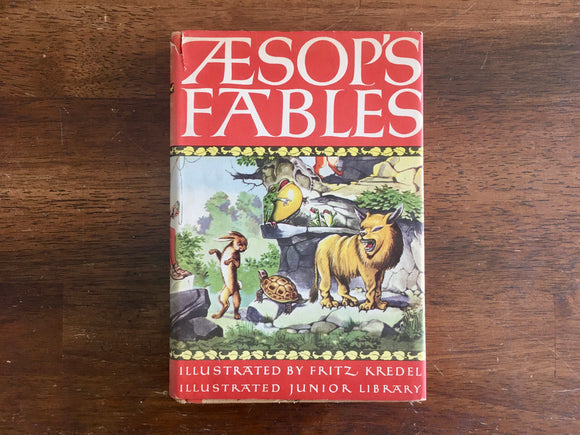 Aesop's Fables, Illustrated Junior Library Edition, Fritz Kredel, Vintage 1947, HC DJ