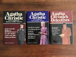 Agatha Christie, 3-Book set, Vintage 1980, 1982, Hardcover with Dust Jacket