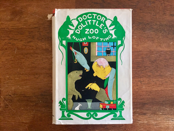Dr. Dolittle's Zoo by Hugh Lofting, Vintage 1956, Hardcover Book with Dust Jacket, Illustrated