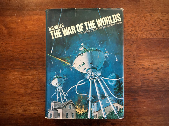 War of the Worlds, H.G. Wells, Time Machine, Short Stories, Vintage 1980, HC DJ