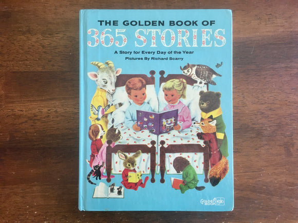 The Golden Book of 365 Stories by Kathryn Jackson, Pictures by Richard Scarry, Vintage 1982, Hardcover Book