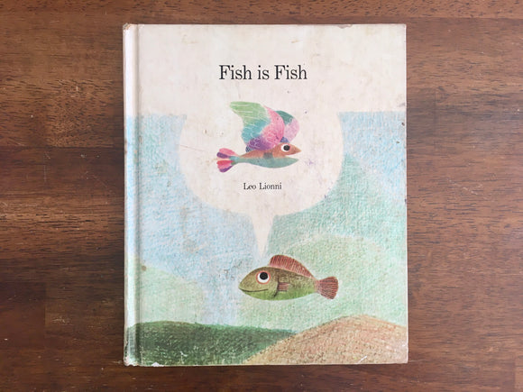 Fish is Fish by Leo Lionni, Vintage 1970, Large HC Book, Illustrated