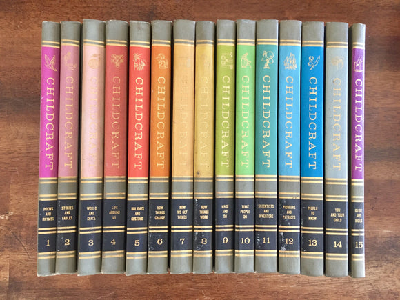 Childcraft: The How and Why Library, Complete 15-Volume Set, Vintage 1964, Hardcover Book, Illustrated