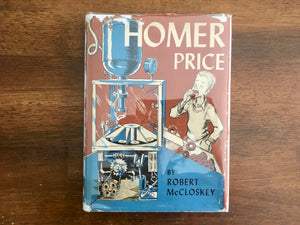Homer Price by Robert McCloskey, Vintage 1964, Hardcover Book with Dust Jacket
