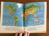 "The First Golden Geography, Little Golden Book ""B"", Hardcover, Vintage 1955, Illustrated"