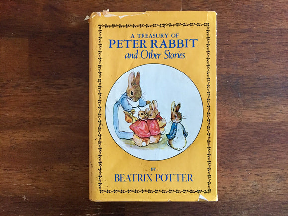 A Treasury of Peter Rabbit and Other Stories by Beatrix Potter, Vintage 1978, Hardcover Book with Dust Jacket