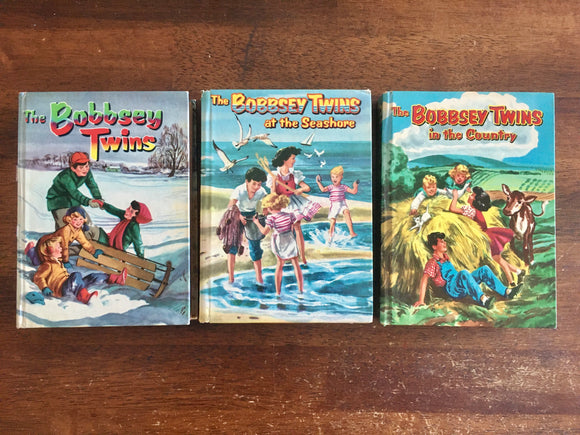 Bobbsey Twins 3 Book Lot, Laura Lee Hope, Seashore, Country, Whitman, 1950s