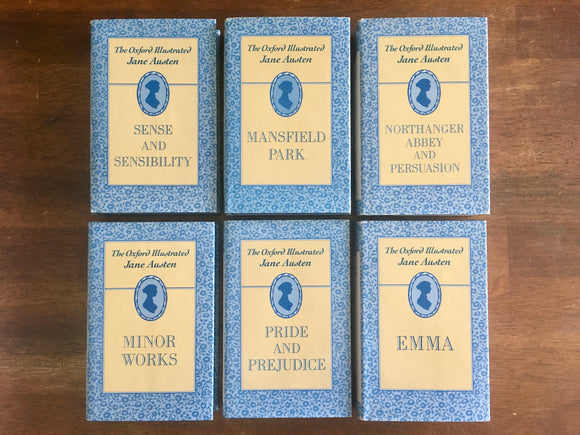 The Oxford Illustrated Jane Austen Collection, 6-Book Set, Hardcover Books with Dust Jackets