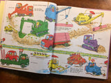 Richard Scarry's Cars and Trucks and Things That Go, A Golden Book, Vintage 1974,