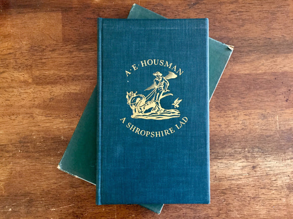 A Shropshire Lad by A.E. Housman, Illustrated by Edw A. Wilson, Vintage 1938, Hardcover Book in Slipcase