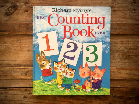 Richard Scarry's Best Counting Book Ever 123, Hardcover Book, Vintage, Numbers