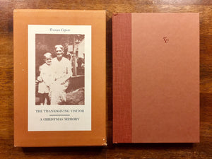 The Thanksgiving Visitor + A Christmas Memory by Truman Capote, Vintage 1967, Hardcover Book in Slipcase