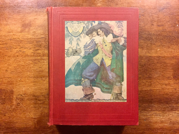 The Three Musketeers by Alexandre Dumas, Illustrated by Mead Schaeffer, Vintage 1940, Hardcover Book