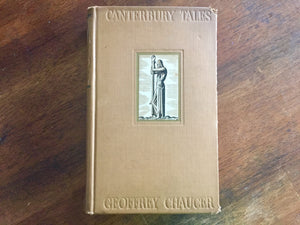 Canterbury Tales in Modern English, Hardcover Book, Vintage 1934, Illustrated