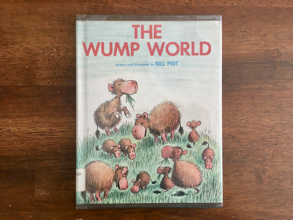 The Wump World by Bill Peet, Hardcover, Dust Jacket, Vintage 1970, 5th Printing