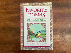 Favorite Poems Old and New, Selected for Boys and Girls by Helen Ferris, Illustrated by Leonard Weisgard, Vintage, Hardcover Book with Dust Jacket