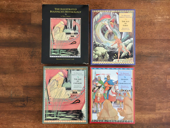 Illustrated Bulfinch's Mythology, 3-Volume Set, Age of Fable, Chivalry, Legends of Charlemagne