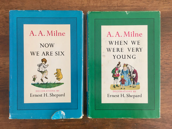 When We Were Very Young & Now We Are Six by A.A. Milne, Vintage 1955, HC DJ