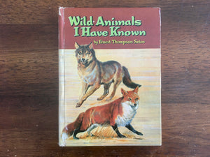 Wild Animals I Have Known by Ernest Thompson Seton, Vintage 1961, Hardcover Book, Illustrated by Gerald McCann