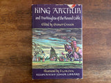 King Arthur and His Knights of the Round Table, Edited by Sidney Lanier, Illustrated Junior Library Edition, Vintage 1950, Hardcover Book with Dust Jacket